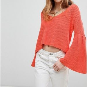 NWT Free People Damsel Bell Sleeve Sweater Medium